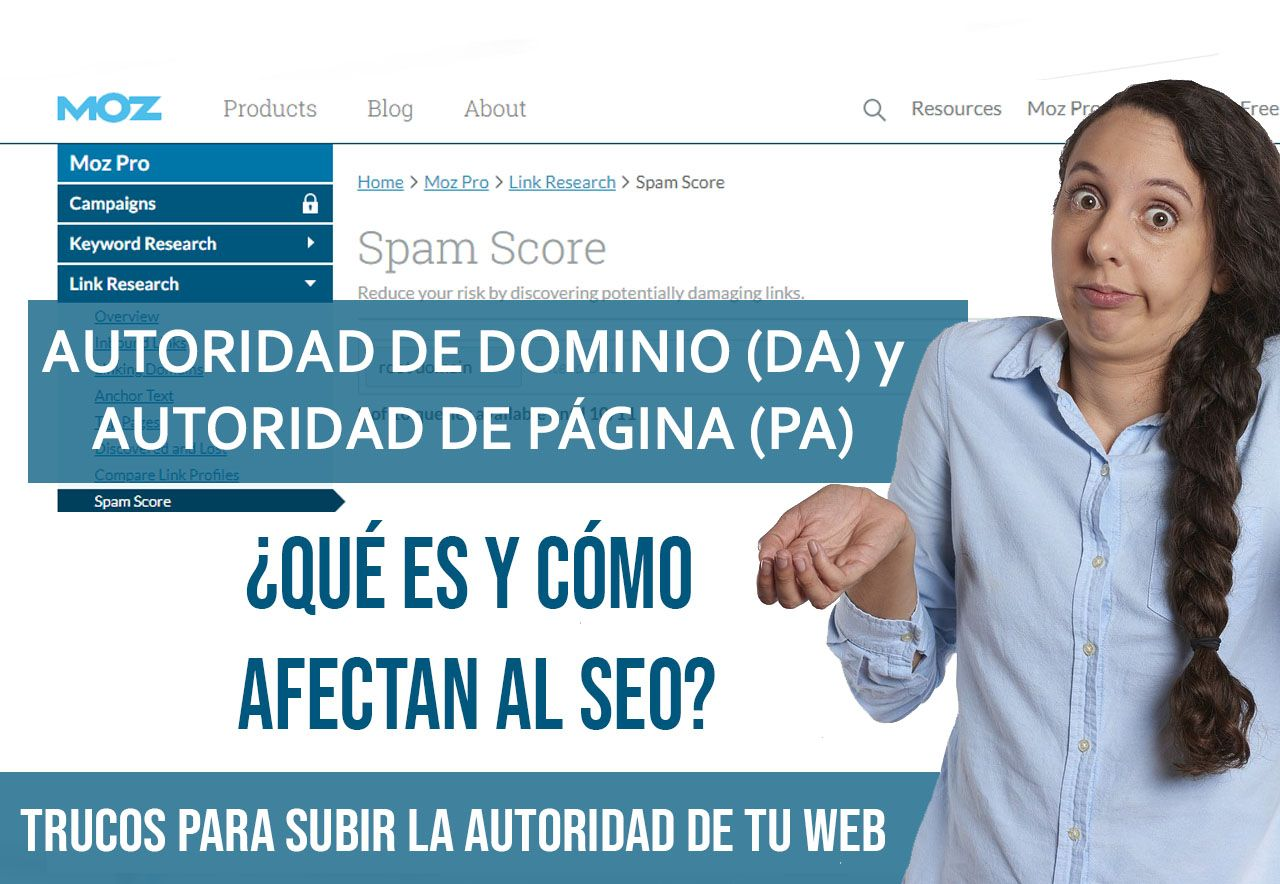 autoridad de pagina y autoridad de dominio PA DA