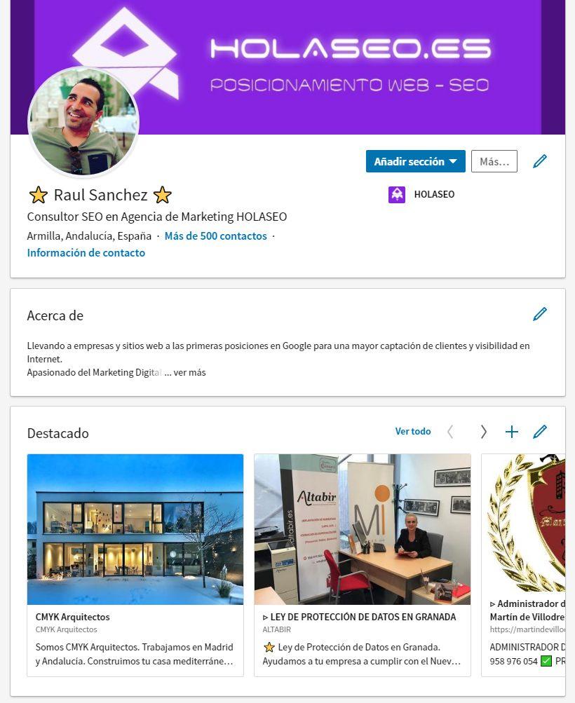 Linkedin Raul Sanchez Palacios
