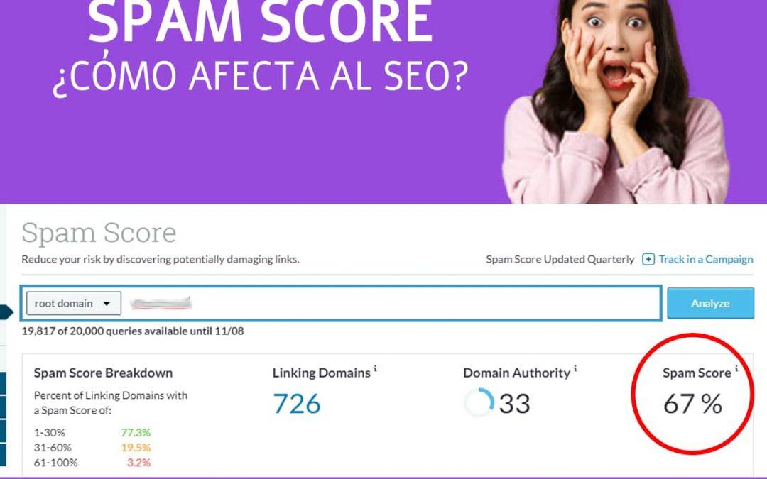 Qué es el porcentaje de spam de un sitio web