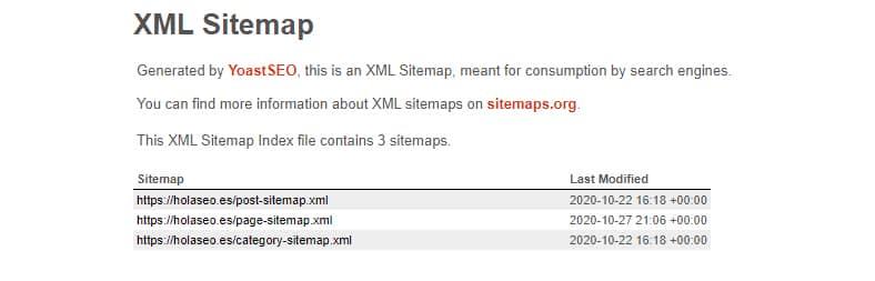 que es mapa de sitio XML