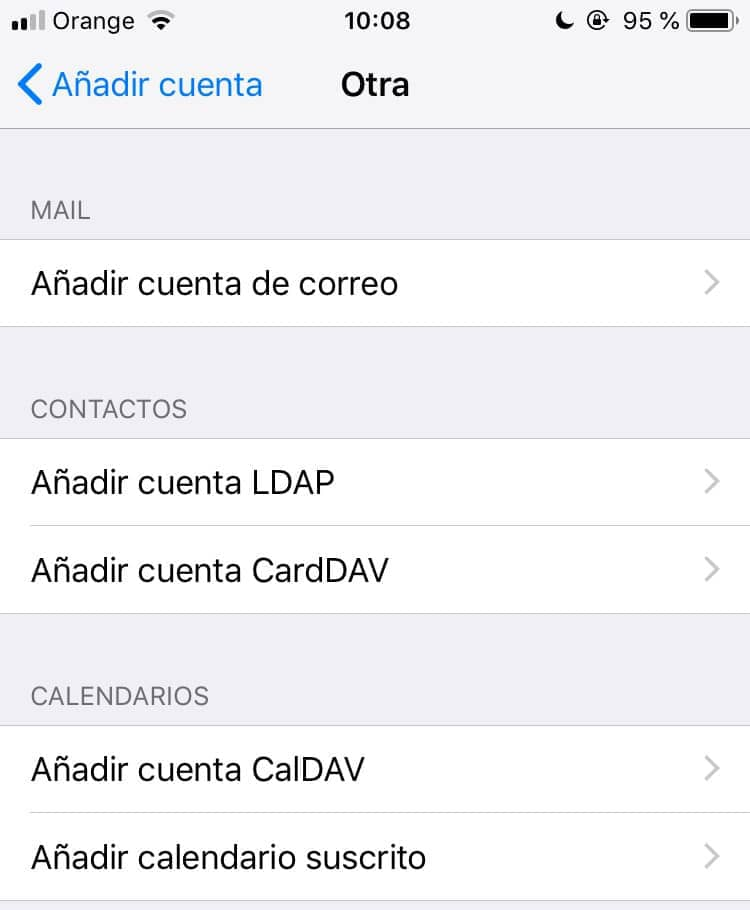 configurar correos corporativos iphone